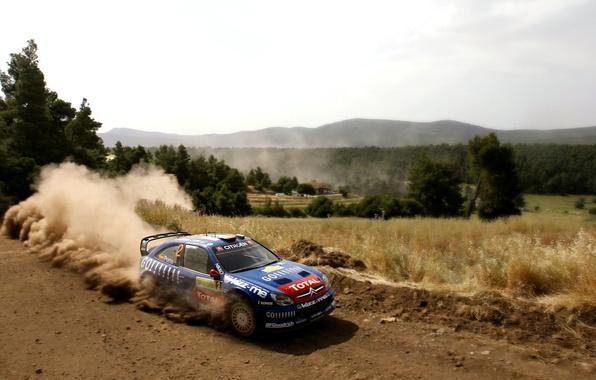 Picture Auto, Blue, Dust, Sport, Machine, Speed, Citroen, WRC, Rally, Rally, Xsara