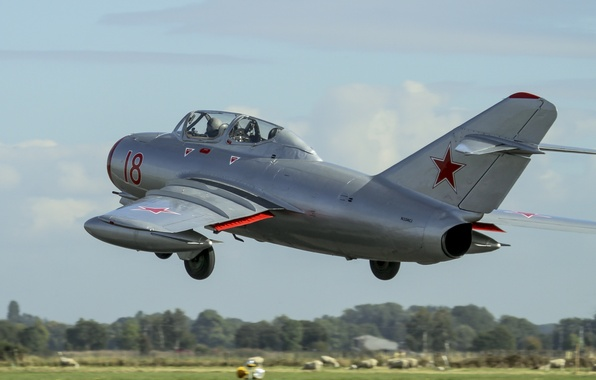 Picture flight, fighter, Soviet, The MiG-15