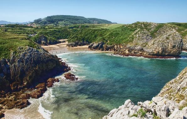 Picture sea, landscape, nature, photo, coast, Bay, Spain, Cantabrian