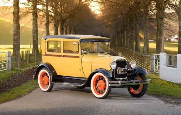 Picture retro, Ford, classic, Tudor, 1928 Ford Model A Tudor