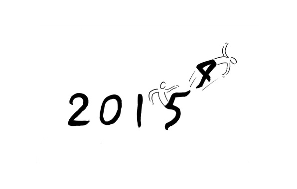 Picture background, the trick, 2014, Happy New Year, 2015