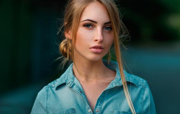 Picture look, portrait, the beauty, bokeh, Alina, Maxim Kuzin