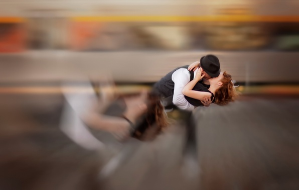 Picture girl, passion, kiss, guy