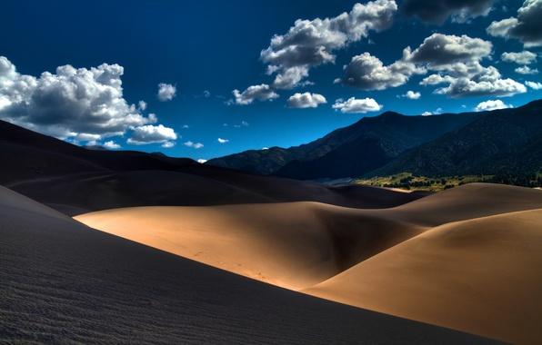 Picture sand, landscape, mountains