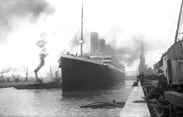 Picture retro, Wallpaper, ship, Marina, port, steamer, Titanic, liner, British, the, Titanic, passenger, RMS