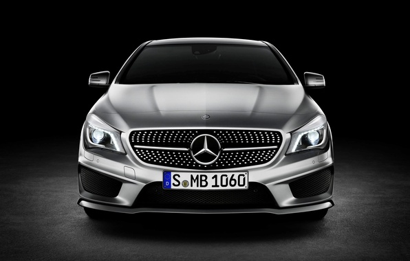 Picture Mercedes-Benz, the hood, grille, Mercedes, logo, Car, the front, Class, CLA
