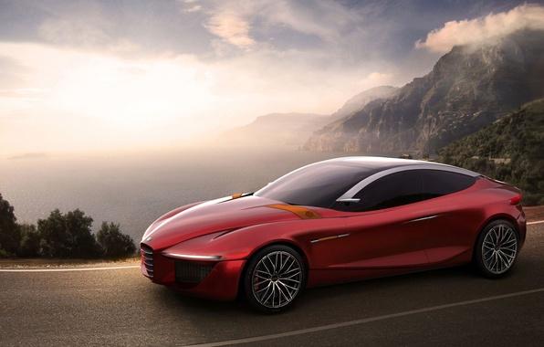 Picture Concept, Alfa Romeo, Red, Car, Gloria, Road