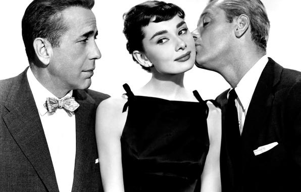 Picture retro, 1954, Audrey Hepburn, Sabrina, Walter Hampden, Humphrey Bogart