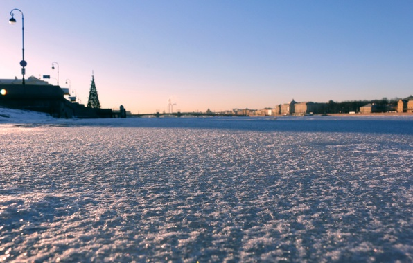 Picture ice, the city, Saint Petersburg, ice, Neva, St.Petersburg, Neva
