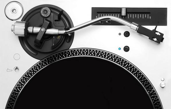 Picture music, black & white, music, vinyl, record, record, rock n rock, dj setup, DJ setup