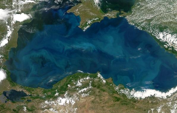Picture photo, NASA, The black sea
