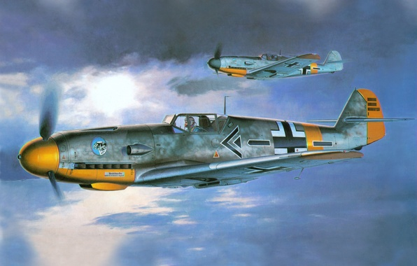 Picture the plane, figure, the second world, the Germans, Air force, Luftwaffe, Messerschmitt, the commander of …