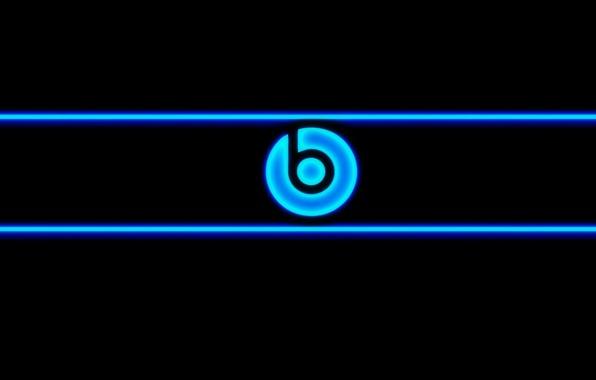 Picture blue, neon, Beats, audio