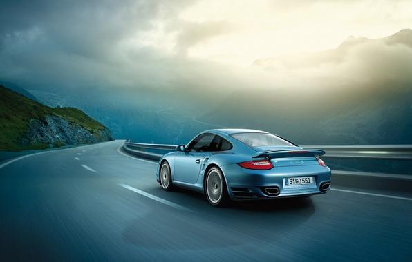 Photo wallpaper road, view, speed, Porsche, porsche, riding