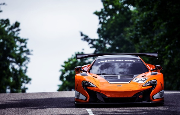 Picture McLaren, Auto, Road, Sport, Machine, The hood, Bright, Lights, GT3, The front, Sports car, 650S
