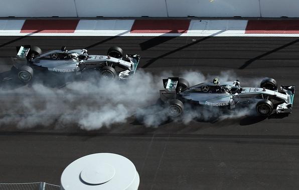 Picture Mercedes, Formula 1, AMG, Lewis Hamilton, Nico, Rosberg, 2014, sochi, V6 1.6l Turbo, F1 W05