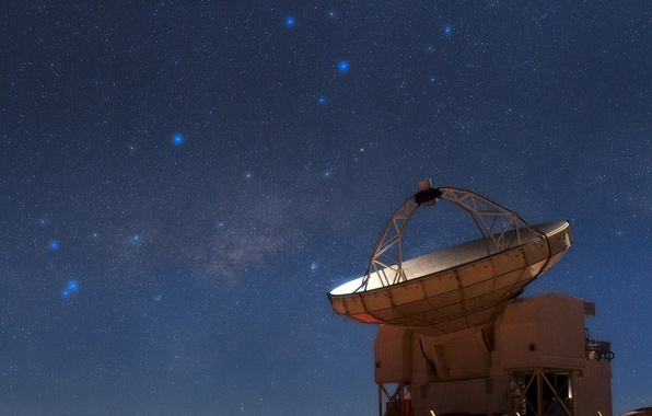 Picture stars, The milky way, Sagittarius, Scorpio, constellation, radio telescope