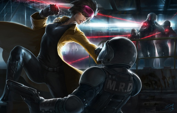 Picture girl, glasses, X-Men, art, mutant, special forces, Marvel Comics, ubilee, Jubilation Lee