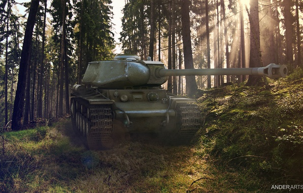 Photo wallpaper Wallpaper, world of tanks, brew, the kV-1s, кв1с, wot кв1с, Wallpaper wot