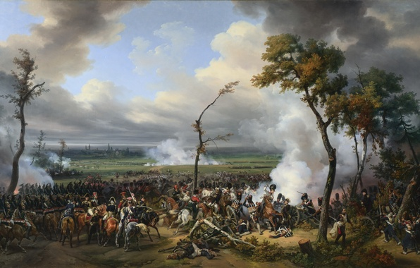 "Picture oil, picture, canvas, «The Battle of Hanau», ""Battle of Hanau"""