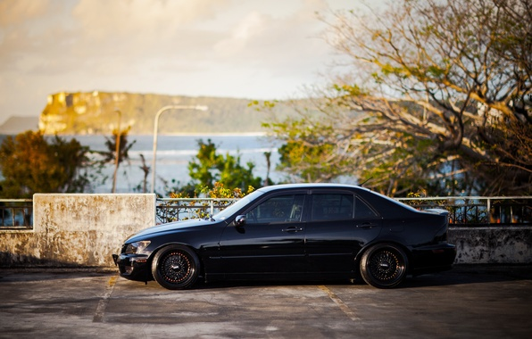 Picture black, tuning, Lexus, profile, black, Lexus, is200