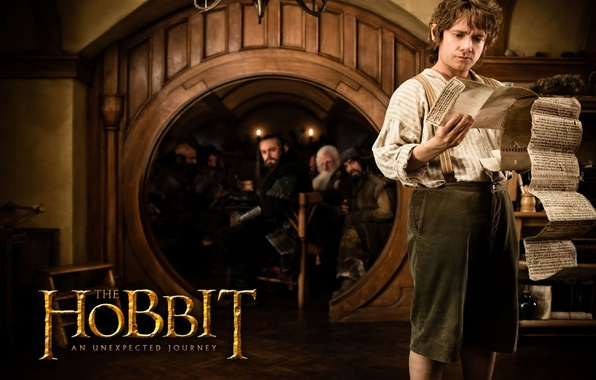 Picture the door, actor, the hobbit, scroll, an unexpected journey, Bilbo Baggins, Martin Freeman, an unexpected …