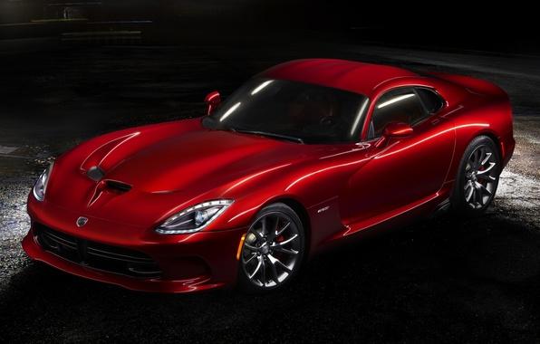 Picture red, Dodge, Dodge, supercar, twilight, Viper, the front, GTS, Viper, SRT