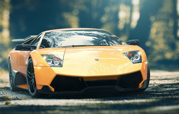 Picture Lamborghini, Wheel, Lights, Drives, Supercar, Lights, Murcielago, SuperVeloce, Yellow, LP670-4, Supercar, Wheels, Rims, Spoiler, Spoiler, …