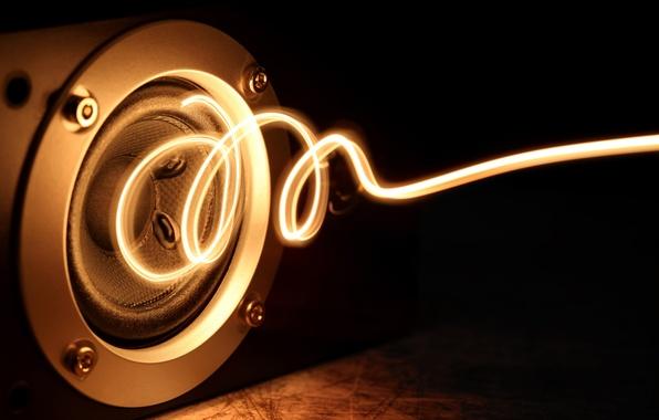 Picture energy, macro, light, music, creative, power, glow, positive, spiral, music, column, speaker, power, energy, bokeh, …