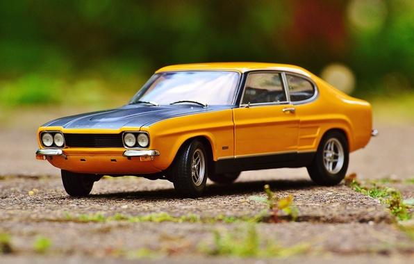 Picture auto, toy, car, ford, classic, model, Oldtimer, capri, car model
