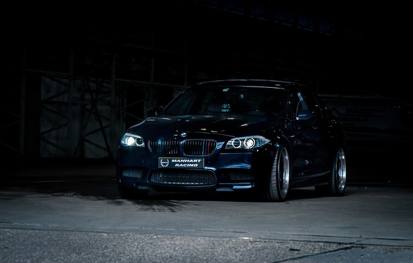 Picture black, bmw, BMW, black, the front, f10, daylight