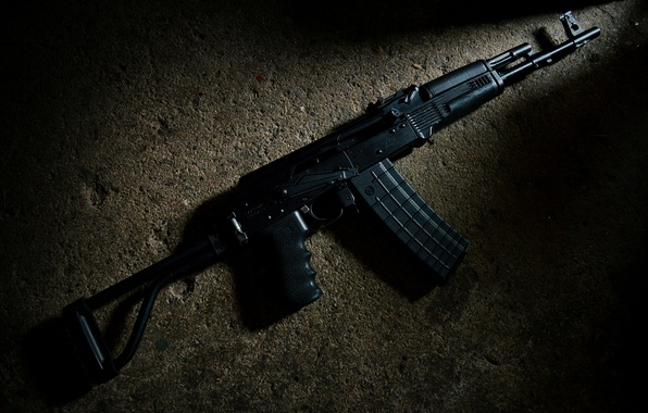 Picture weapons, background, the gun, carabiner, Saiga, self-loading
