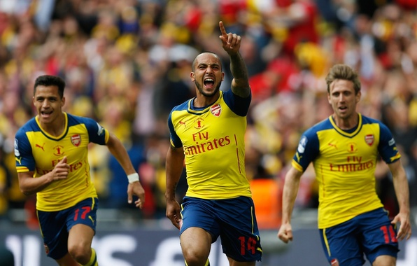 Picture background, victory, Arsenal, Arsenal, Football Club, the gunners, The Gunners, football club, Theo Walcott, Theo …