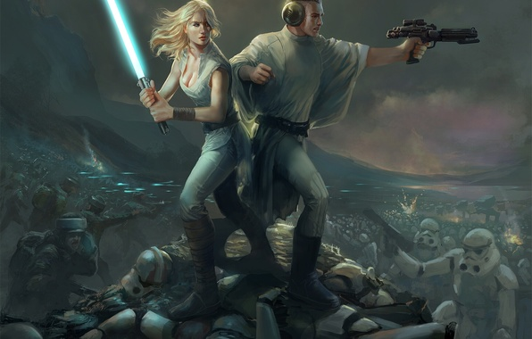 Picture Star Wars, Star wars, fan art, Stormtroopers, Lucy Skywalker, Prince Leio, Guilano Brocani