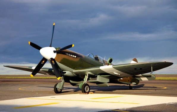 Picture the plane, fighter, Tomahawk, RAF, WW2, Curtiss P-40, military historical club, during the second world …