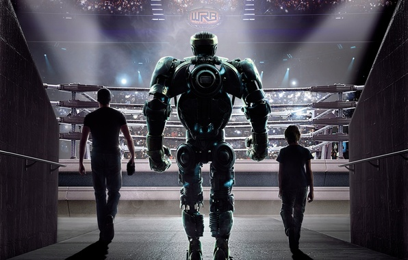 Picture movie, the film, robot, actors, the ring, Hugh Jackman, Hugh Jackman, tribune, Real steel, Real …