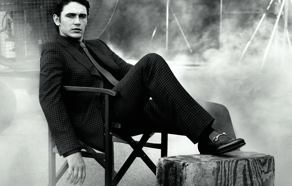 Picture smoke, costume, tie, actor, male, James Franco, James Franco