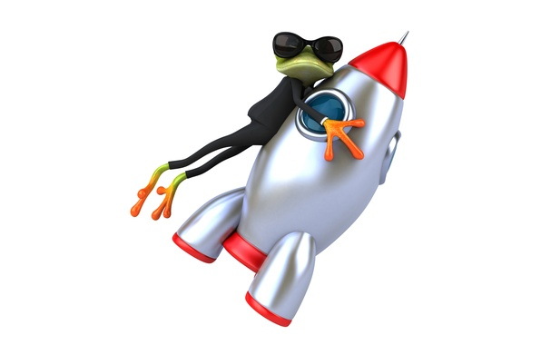 Picture frog, frog, funny, glasses, rocket