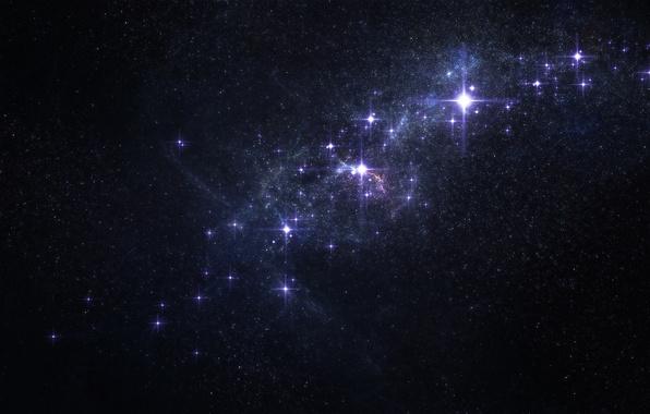 Picture space, stars, glow, constellation, nebula