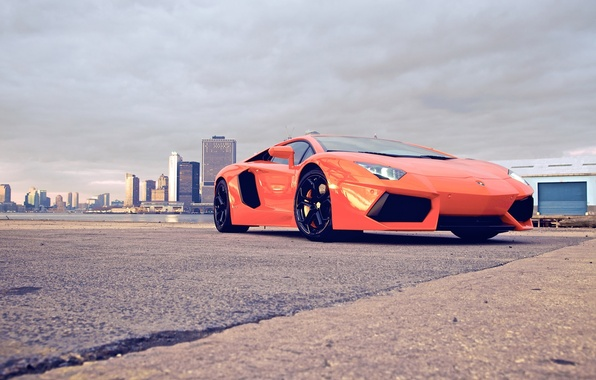 Picture city, supercar, cars, auto, Supercars, lp700-4, Lamborghini Aventador, wallpapers auto, Wallpaper HD, lamborghini aventador, Orang