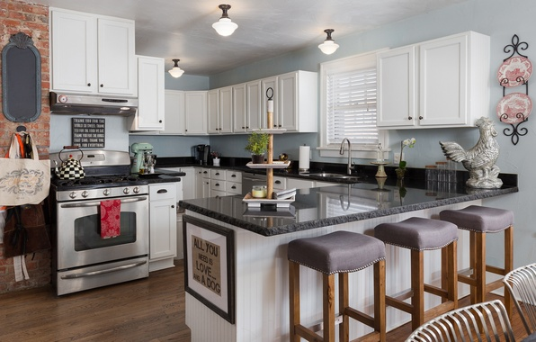 Picture design, style, furniture, chairs, kitchen, plate, decor