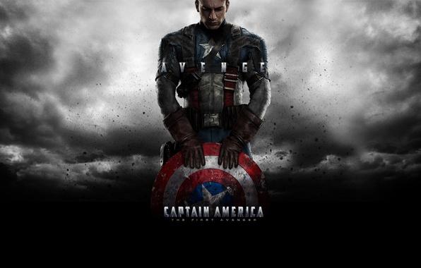 Picture star, hero, shield, superhero, Marvel, Captain America, The First Avenger