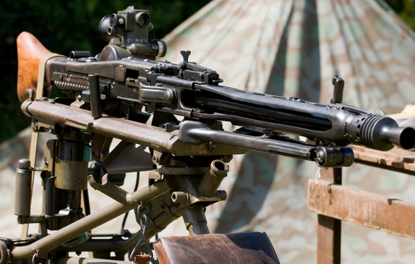 Picture weapons, war, machine gun, German, world, Second, times, MG 42, single, (Machine gun 42)