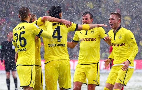 Picture Sport, Football, Borussia Dortmund, Borussia Dortmund, Marcel Schmelzer, Neven Subotic, Ball Play Association Borussia, Lukasz …
