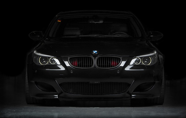 Picture black, bmw, BMW, black, the front, e60