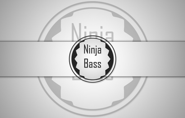 Photo wallpaper Bass, black, Ninja, white