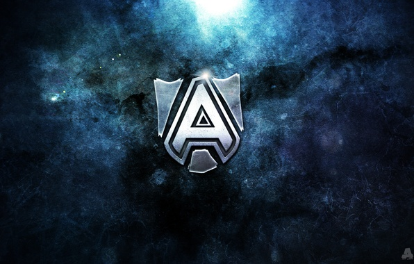 Picture Blue, Rock, Team, Stone, Metal, Logo, Texture, Team, Dota 2, ESports, Art Shift, The Alliance