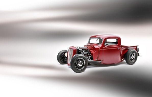 Picture Ford, car, Hot, Pickup, 1935, Rod