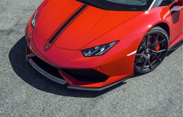 Picture Lamborghini, Red, red, Lamborghini, 2015, Huracan, hurakan