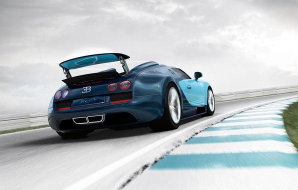 Picture speed, track, Roadster, car, Bugatti Veyron Grand Sport Vitesse